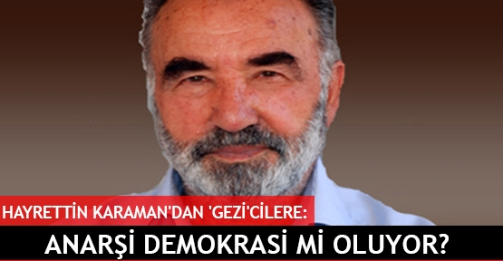 Hayrettin Karaman'dan 'Gezi'cilere:
