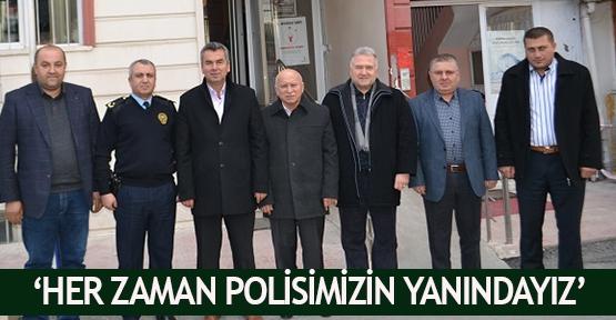 'Her zaman polisimizin yanındayız'