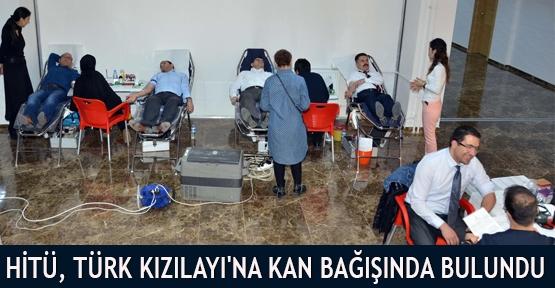 HİTÜ, Türk Kızılayı'na Kan bağışında bulundu