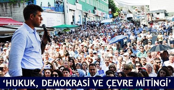 Hukuk, demokrasi ve çevre mitingine Çorum'dan katılım