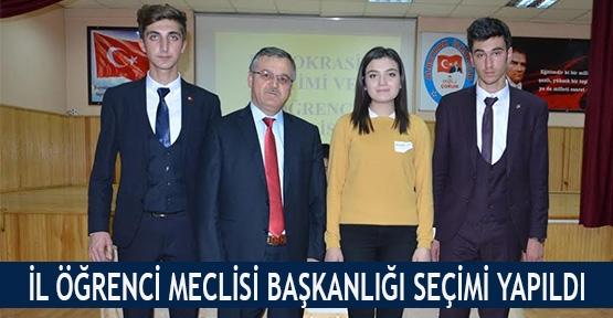 İl Öğrenci Meclisi Başkanlığı seçimi yapıldı