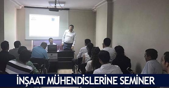 İnşaat Mühendislerine seminer