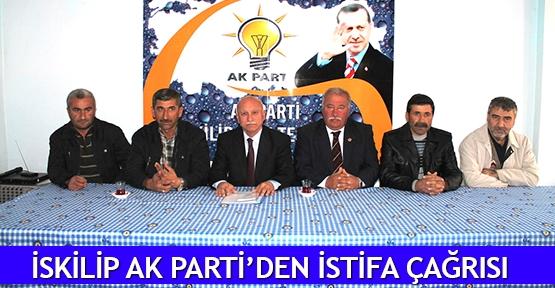İskilip AK Parti'den istifa çağrısı