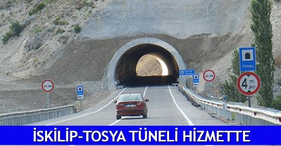 İskilip-Tosya tüneli hizmette