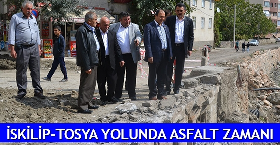 İskilip-Tosya yolunda asfalt zamanı