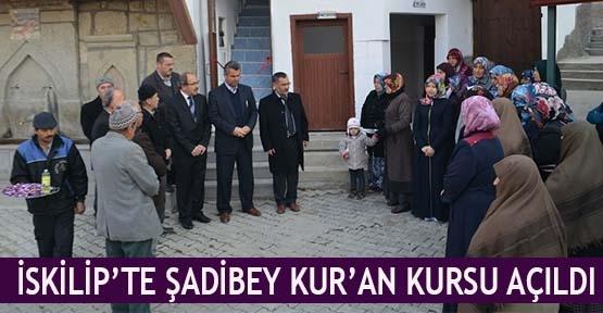 İskilip'te Şadibey Kur'an kursu açıldı
