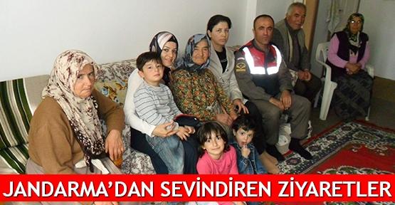 Jandarma'dan sevindiren ziyaretler