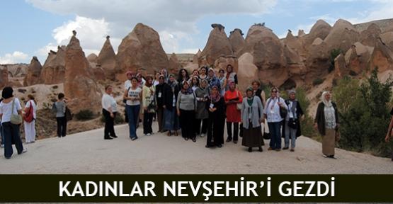 Kadınlar Nevşehir'i gezdi