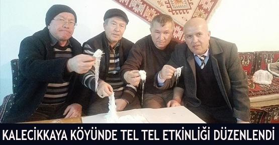 Kalecikkaya Köyünde Tel Tel Etkinliği Düzenlendi
