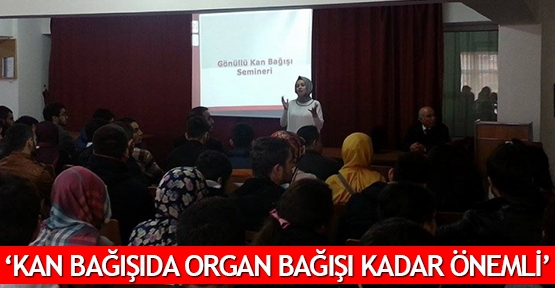 'Kan bağışıda organ bağışı kadar önemli'