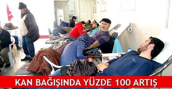 Kan bağışında yüzde 100 artış