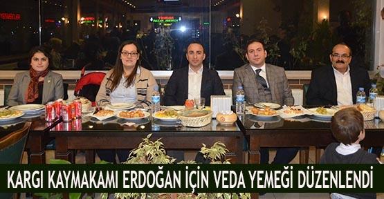 Kargı Kaymakamı Erdoğan için veda yemeği düzenlendi