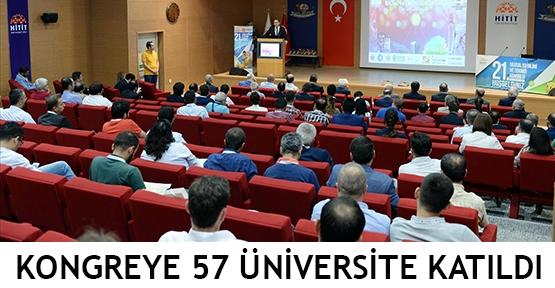 Kongreye 57 üniversite katıldı