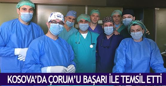 Kosova'da Çorum'u başarı ile temsil etti