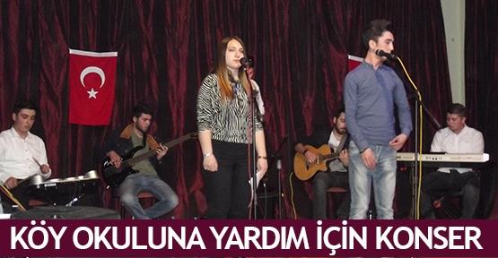 Köy okuluna yardım için konser