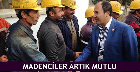 Madenciler artık mutlu