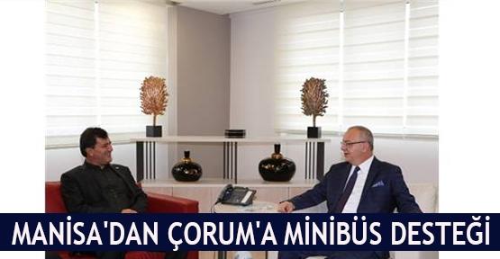 Manisa'dan Çorum'a minibüs desteği