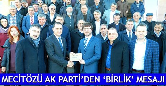Mecitözü AK Parti'den 'BİRLİK' mesajı