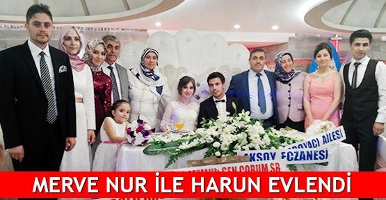 Merve Nur ile Harun evlendi