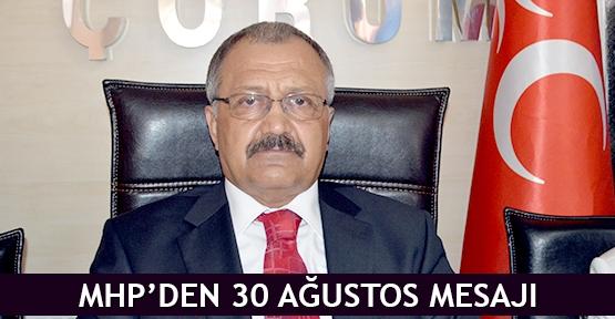 MHP'den 30 Ağustos mesajı