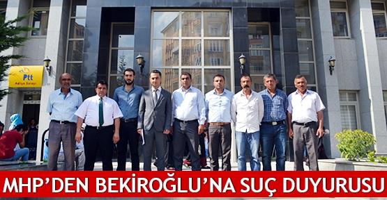 MHP'den Bekiroğlu'na suç duyurusu