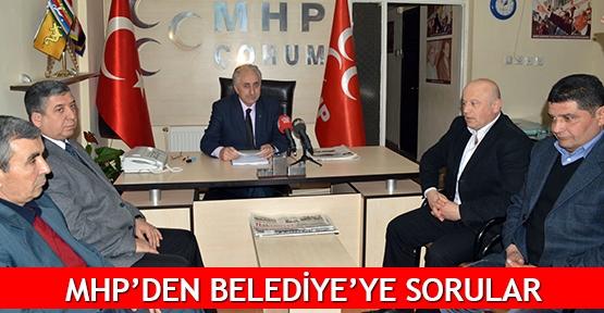 MHP'den Belediye'ye sorular