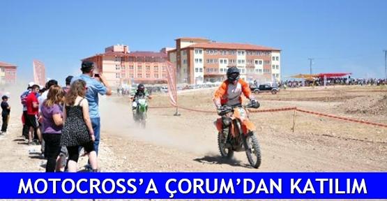 Motocross'a Çorum'dan katılım