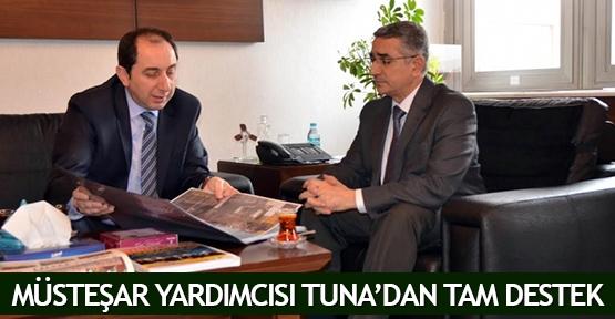 Müsteşar Yardımcısı Tuna'da tam destek