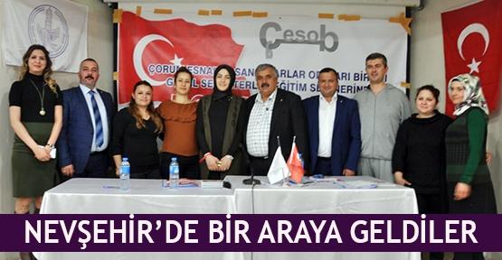 Nevşehir'de bir araya geldiler