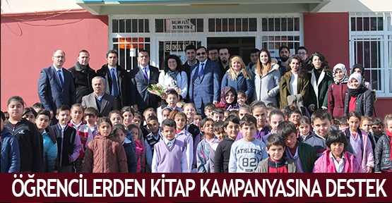 Öğrencilerden kitap kampanyasına destek
