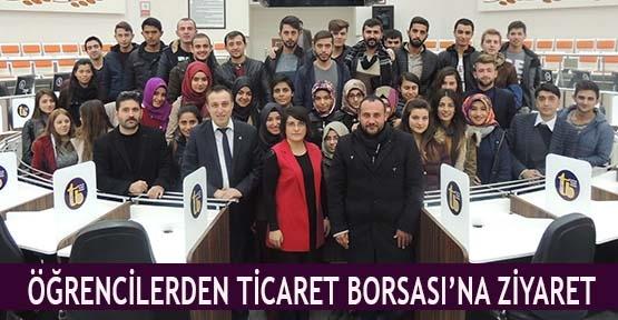 Öğrencilerden Ticaret Borsası'na ziyaret
