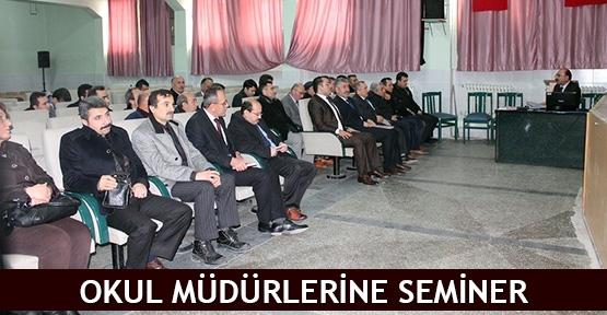 Okul müdürlerine seminer