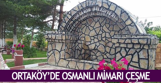 Ortaköy'de Osmanlı mimarı çeşme