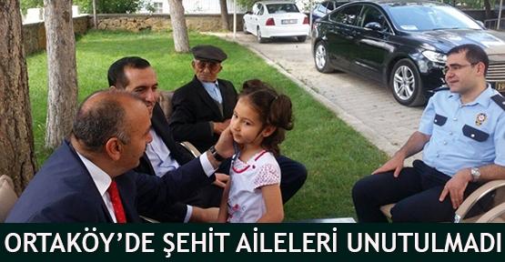Ortaköy'de Şehit Aileleri Unutulmadı