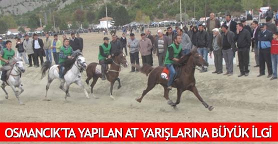 Osmancık'ta yapılan at yarışlarına büyük ilgi