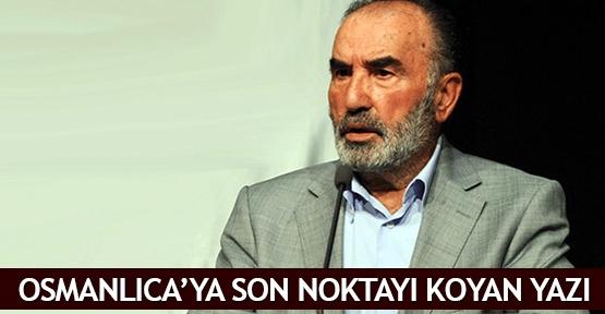 Osmanlıca'ya son noktayı koyan yazı