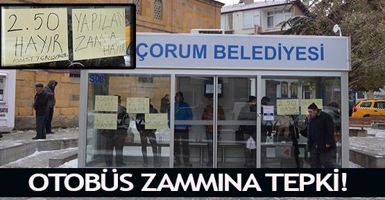 Otobüs zammına tepki!
