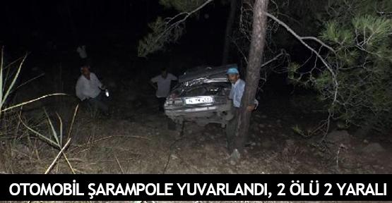 Otomobil şarampole yuvarlandı, 2 ölü 2 yaralı