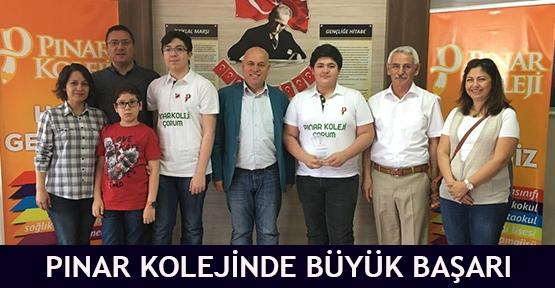Pınar Kolejinde Büyük başarı