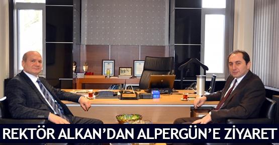 Rektör Alkan'dan Alpergün'e ziyaret