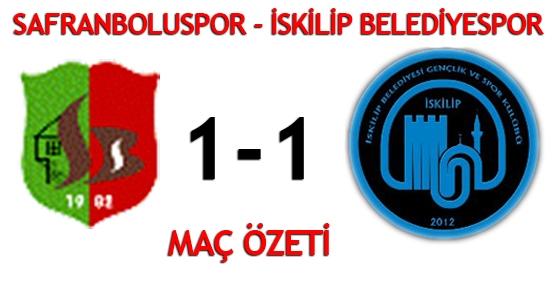Safranboluspor - İskilip Belediyespor