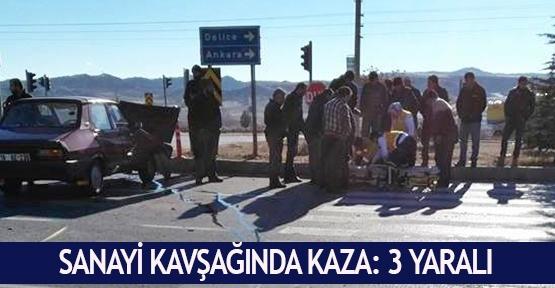 Sanayi kavşağında kaza: 3 yaralı