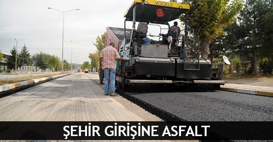 Şehir girişine asfalt