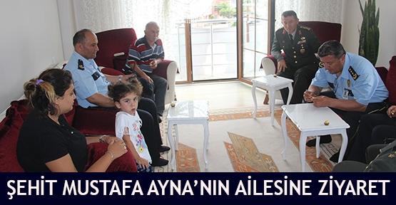 Şehit Mustafa Ayna'nın ailesine ziyaret