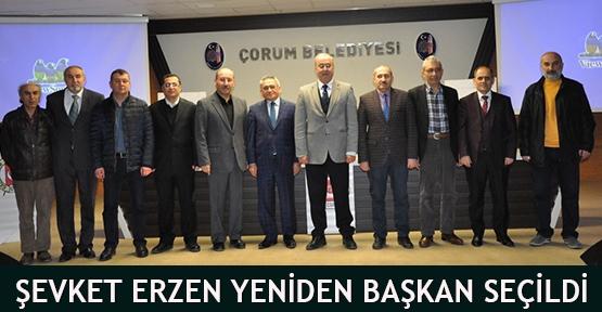 Şevket Erzen yeniden başkan seçildi
