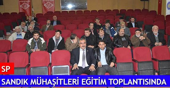 SP Sandık Mühaşitleri eğitim toplantısında