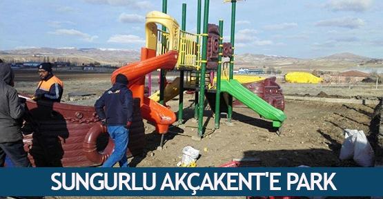Sungurlu Akçakent'e park