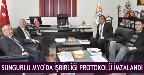 Sungurlu MYO'da İşbirliği protokolü imzalandı
