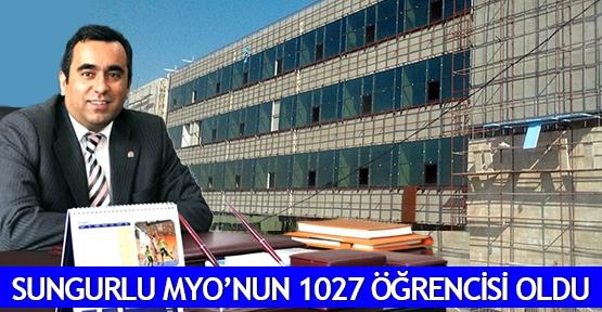 Sungurlu MYO'nun 1027 öğrencisi oldu