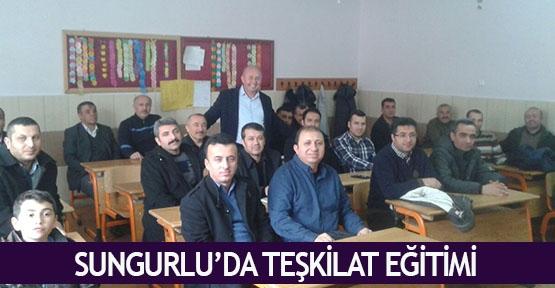 Sungurlu'da teşkilat eğitimi
